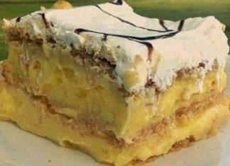 easy 3 ingredients no bake pudding cake