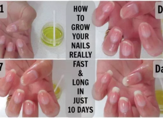 a friend gave me this recipe and my nails stopped breaking and they grow healthy and fast